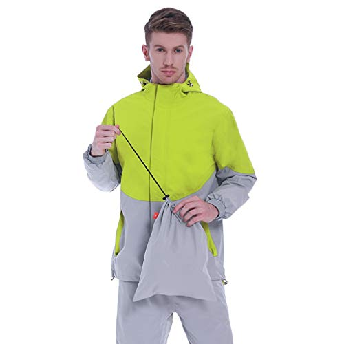 TO DREAM Regenjas Mannen, Stormbreak Waterdichte Regenpak Winter Thermische Ademende Fietskleding Casual en Outdoor Stijl Outdoor Werk Windbreaker Regenjassen