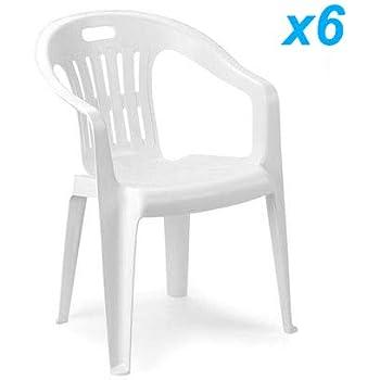 Sedie Da Giardino In Plastica.Tomaino Sedia Da Giardino In Plastica Impilabile Set 6 Pezzi Mod Piona Ideale Per Casa Campeggio Giardino Amazon It Giardino E Giardinaggio
