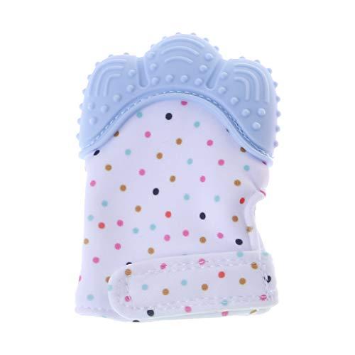 siwetg Baby Beißring Handschuhe Quietschend Knirschen Zähne Mundpflege Zahnen Schmerzlinderung Neugeborenen Biss Kauen Sound Spielzeug Einstellbar Silikon BPA Frei Mitten Nursing Supplies
