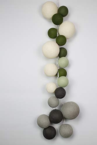 Cotton Ball Lights Waldwunder 20 Prime, Eierschale-Hell Braun-Braun-Puder-Grün-Kaki-Olive-Grün