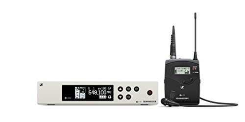 Sennheiser Pro Audio Sennheiser EW 100-ME2 Wireless Omni Lavalier Microphone System - A1 Band (470-516Mhz), 100 G4-ME2-A1