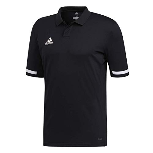 adidas Team 19 Polo Shirt, M/M, Black/White