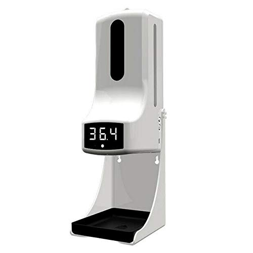 New K9 Pro 1000ml Wall-Mounted Thermometer with Soap Dispenser, with Alarm, Suitable for Use in Offices, Schools Home and Communities