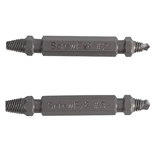 Juego de extractores de tornillos ScrewEx GRABIT PRO que elimina tornillos y pernos dañados.