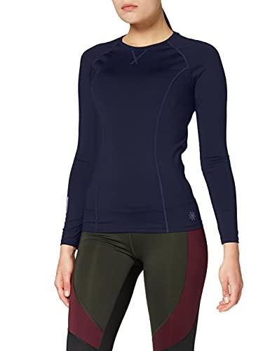 Amazon Brand - AURIQUE Top deportivo de running para mujer, Azul (Navy), 36, Label:XS
