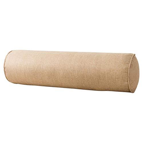 GeKLok Rollo de almohada para el cuello, cómodo con núcleo de espuma viscoelástica, almohada redonda para espalda baja, rodillas y soporte para el cuello, color marrón