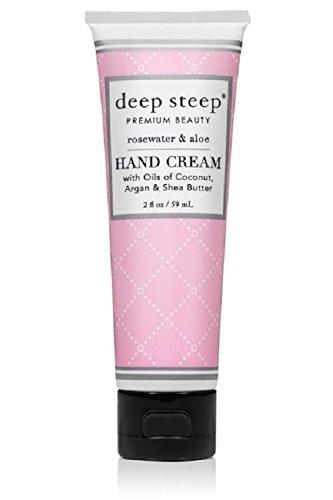 Deep Steep Crème pour les mains, 56,7 gram, eau de rose à l'aloe