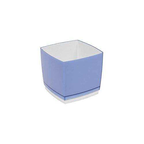 Pot de fleur, cache pot Designo Cube, hauteur 13,5 cm, en bleu