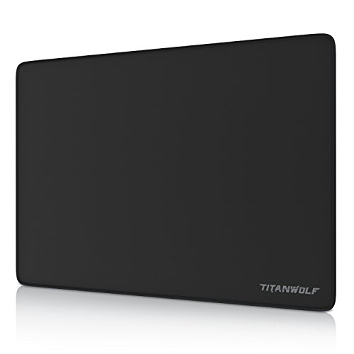 TITANWOLF - Tappetino per Mouse - XL Gaming Mousepad Mouse Pad 250 x 350mm - Mouse Mat Base in Gomma Antiscivolo - Resistente - Spessore 3mm - Nero