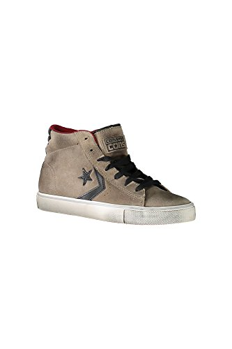 Converse Pro Leather Vulc Mid 155159C - Sneakers suede, Beige (FOSSIL/RED BLOCK/TURTLEDOVE) (37.5)
