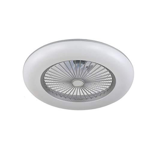 ACTiO LED 770011-ASL lámpara ventilador de techo luz led 60W IKARO plata mando distancia, regulable intensidad, 3 tonalidades, memoria, silencioso, 7 aspas protegidas, 3 velocidades, D.50cms.