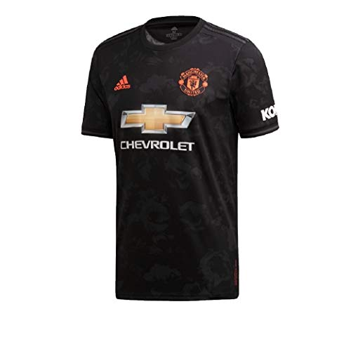 Adidas - Camiseta de visitante del Manchester United, English Premiership, Color Negro,...