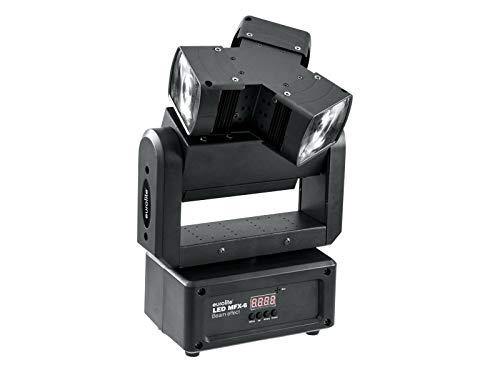 Eurolite LED MFX-6 Strahleneffekt | RGBW-Strahleneffekt mit 3 Linsen und 3 Bewegungsachsen | Mit Infinity-Funktion für endlose PAN- und Z-Achsen-Bewegung