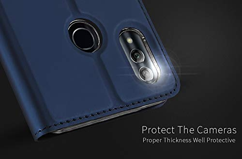 DUX DUCIS Hülle für Honor 10 Lite, Leder Flip Handyhülle Schutzhülle Tasche Case mit [Kartenfach] [Standfunktion] [Magnetverschluss] für Huawei Honor 10 Lite (Blau) - 6