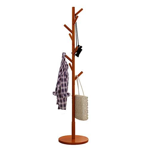 Zcyg Perchero de pie con 8 ganchos, moderno soporte de madera para pasillo, dormitorio, recepción (color: A)
