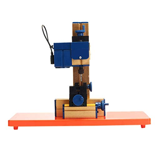 BJLWTQ CNC TORTHE, Tornos Madera, Herramientas de 24W DC 12V 2A Mini eléctrico de la carpintería de la Madera Torno fresadora Hobby DIY de Tratar Madera