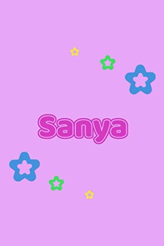 Sanya: Personalisiertes Vornamen Notizbuch / Tagebuch - 120 Seiten - Punkteraster - Format 6x9 ca. DIN A5