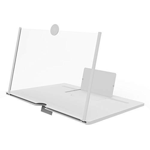 CLJ-LJ Desktop 3D Video Film Vergrößerungsglas-bewegliche Handy-Screen Amplifier Telefon-Support Bracket Ständer 10/12 Zoll (Color : White, Size : 10 inches)