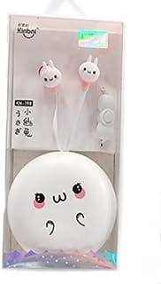 Kinbni かわいい ラビット イヤホン (Pink) カナル型 子供用 軽量 耐久 ギフト 持ち易い 携帯電話 PC タブレット MP3 対応 英会話 リスニング