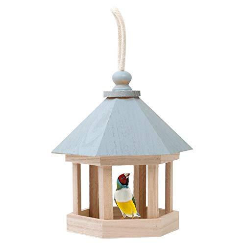 Freedomanoth hangend voederstation vogelvoerdispenser Houten vogel nestdoos bouwpakket met originele houtkwaliteit, veilig en niet giftig