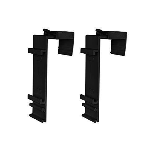 Victoria M. Klemmhalter für Klemmfix Doppelrollo für 15 - 23 mm Fensterflügel, 2er Set, schwarz