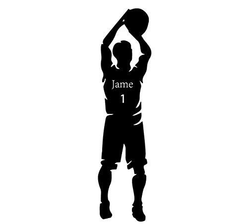 Envío gratis disparar baloncesto nombre personalizado pegatinas de pared a prueba de agua para habitaciones de niños Diy decoración del hogar arte de pared gota