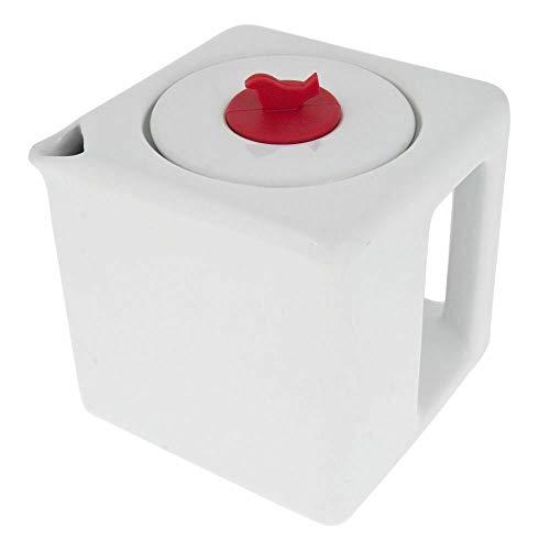 Ceramic Tea Cube Modern Teapot Stainless Steel Loose Leaf Infuser 1L