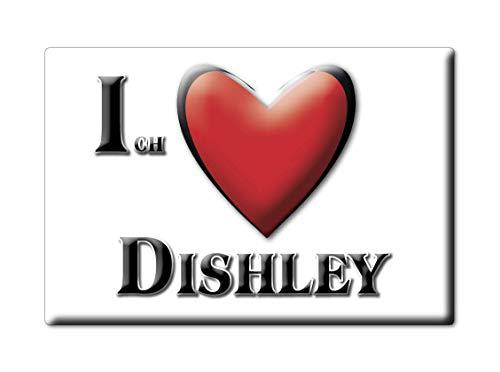 Enjoymagnets DISHLEY (MV) Souvenir Deutschland Mecklenburg Vorpommern Fridge Magnet KÜHLSCHRANK Magnet ICH Liebe I Love