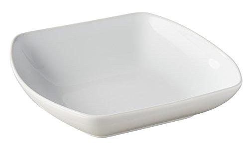 Revol 647673 Club Assiette Creuse Carré Porcelaine Blanc 20,39 x 20,2 x 5 cm