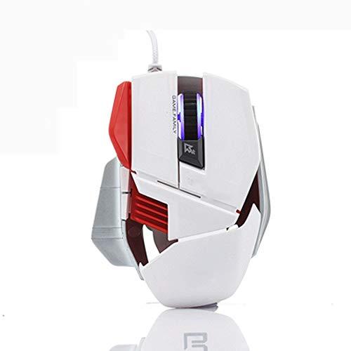 ZXCVB Juego Esports ratón Iluminador de 6 Teclas LOL CF ratón de la computadora con conexión de Cable USB Notebook Mouse