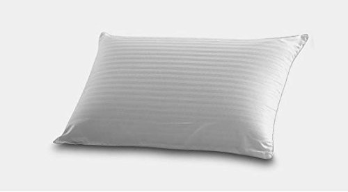 East Coast Bedding White Goose Down & Goose Feather Fill Bed Pillow - Medium Support, Best for Back & Side Sleeping – 100% Cotton Shell. King Size