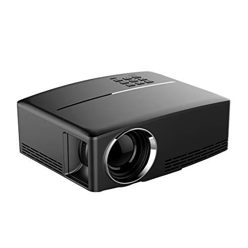 Beweglicher Projektor, Miniprojektor, Beamer Sunzimeng GP80 1800LM 1920 * 1080 HD Heimkino-LED-Projektor mit Fernbedienung, Unterstützung for HDMI-, VGA-, AV- und USB-Schnittstellen (schwarz) LED-Proj