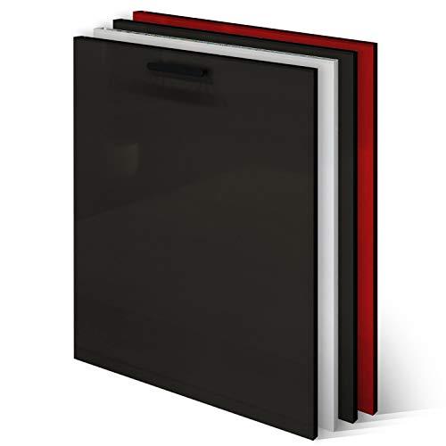 KLEMP Frontblende Geschirrspüler - Geschirrspülerfront 594x715mm - Black - Geschirrspülerblende Vollintegriert