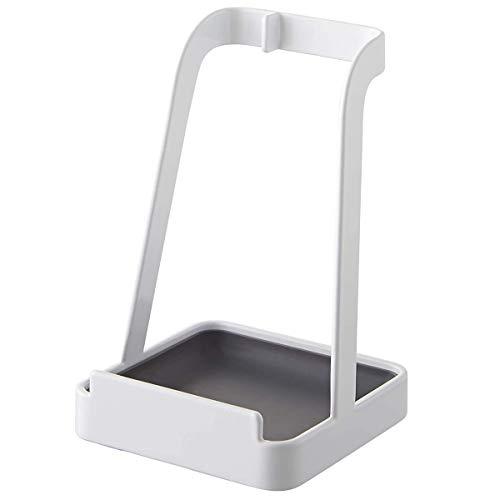 鍋蓋置き お玉立て 箸置き レシピ立て タブレット立て お玉&鍋ふたスタンド キッチン用多機能スタンド おしゃれ ホワイト