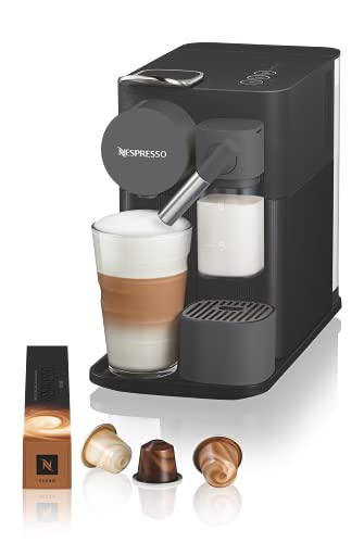 De'Longhi Lattissima One Evo, Macchina da caffè in capsule monouso, Schiumatore per latte automatico, Cappuccino e latte, EN510.B, 1450 W, Nero