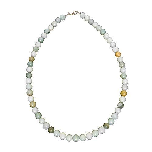 France Minéraux - Birmanian Jade Necklace - 8 mm Ball Stones Green
