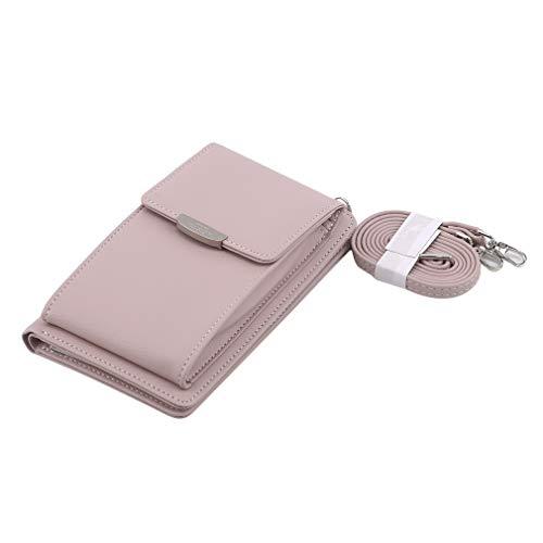 Ristiege - Bolso multifuncional para teléfono móvil, bolso de hombro, bolso con múltiples bolsillos, Pink (Rosa) - Ristiege