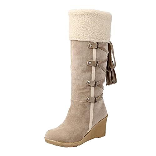 Botas De Nieve Mujer botas de agua para mujer botas bajas mujer botines tacon mujer botas militares para mujer plataforma botas marrones mujer snow boots botas nieve mujer altas