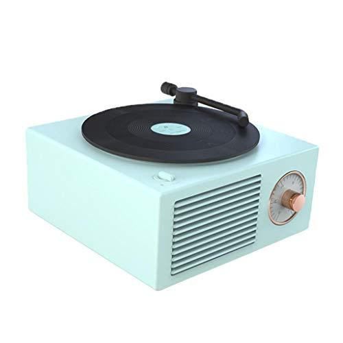 #N/A Mini Tragbare Retro Gramophone Bluetooth Lautsprecher Plattenspieler Plattenspieler Multi-Funktion Bluetooth Audio Wireless - Grün
