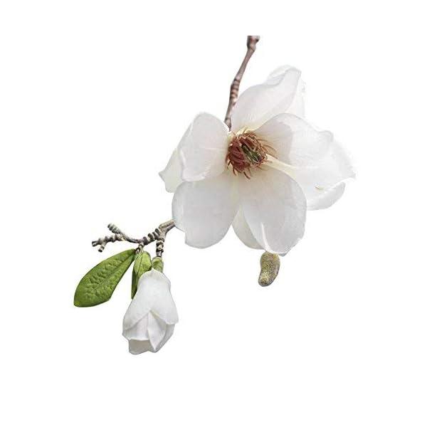 Fine Artificial Fake Flowers Leaf Magnolia Floral Wedding Bouquet Party Home Decor Single-Branched Magnolia