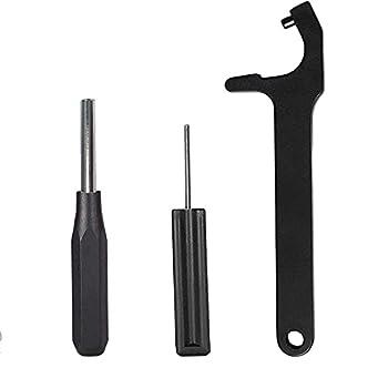 iSinofc Kit d'outils Glock, Outil de démontage de Chargeur Outil de Retrait de Plaque magnétique Outil Hexagonal d'installation de la Vue Avant pour Outil de poinçonnage Accessoire Glock