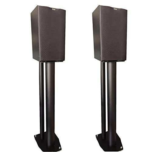 ZAQI Soporte Altavoces Alto Par para Surround Sound Studio, Tarea Pesada De pie Altavoces del Estante del Libro, Universal Base de Acero Fuerte con Picos de Piso, Negro (Size : Height 70cm/28)