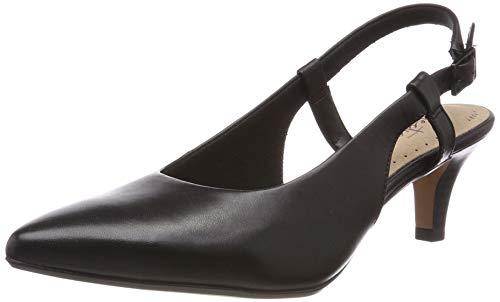 Clarks Damen Linvale Loop Pumps, Schwarz (Black Leather), 40 EU