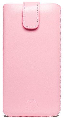 Favory Etui Samsung Galaxy S6 Edge + PLUS (SM-G928F) Tasche Leder Handytasche Ledertasche Schutzhülle Case Hülle Lasche mit Rückzugfunktion* rosa