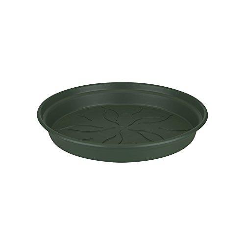 Elho Green Basics onderzetters 10 - levendig zwart - binnen en buiten 29 cm bladgroen