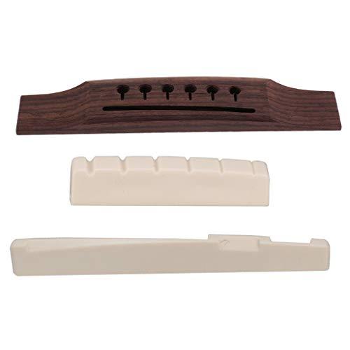 Left-Handed Acoustic Guitars Bridge+Nut+Saddle Luthier Tool