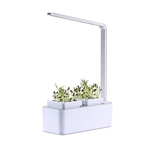 BINGGO LIMITED Simple Style Personal Lazy Garden Planter Elektronischer intelligenter Blumentopf mit LED-Lampe - weißer EU-Stecker