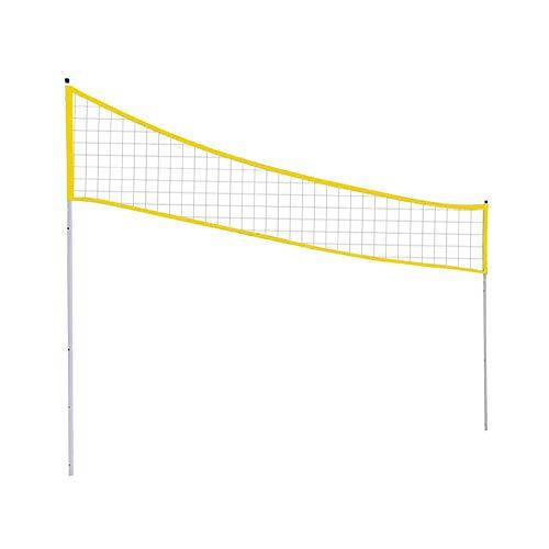 Rvest Outdoor Tragbare Volleyball Net Badminton Tennis Net Folding Einstellbare Ständer Pol Höhe 2 mt 1,8 mt 1,5 mt für Strand Gras Park Indoor Outdoor Locations (Yellow)