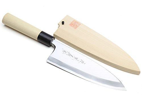 Yoshihiro Shiroko High Carbon Steel Kasumi Deba Japanese Fillet Chef's Knife 7inch(180mm)
