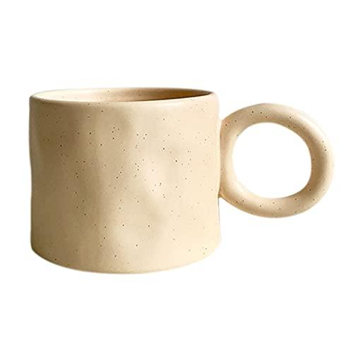 YIFEI2013-SHOP Tazas Cerámica de café Tazas de café y Tazas de café para café, té, Cacao, Cacao, 15.2 Pothole Taza de cerámica Tazas de Café (Color : Cream Color)